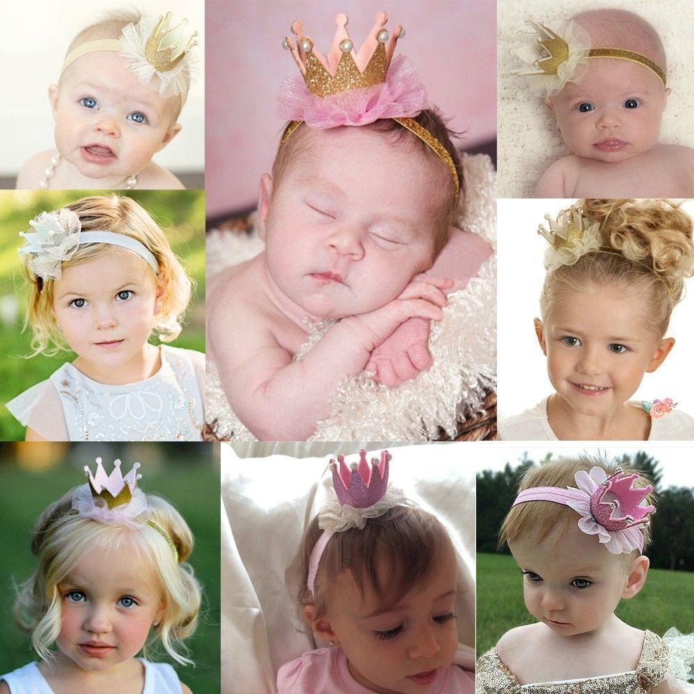 Pearl Princess Queen Hair Band Crown Headband Lace Headwear Tiara