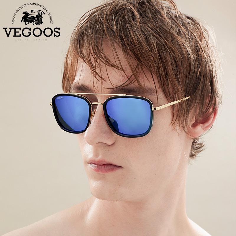 3546d217a346 VEGOOS Brand Designer Men and Women Sunglasses Square Style Mirrored Lenses  Eyewear For Men s Unisex Sun Glasses #3112