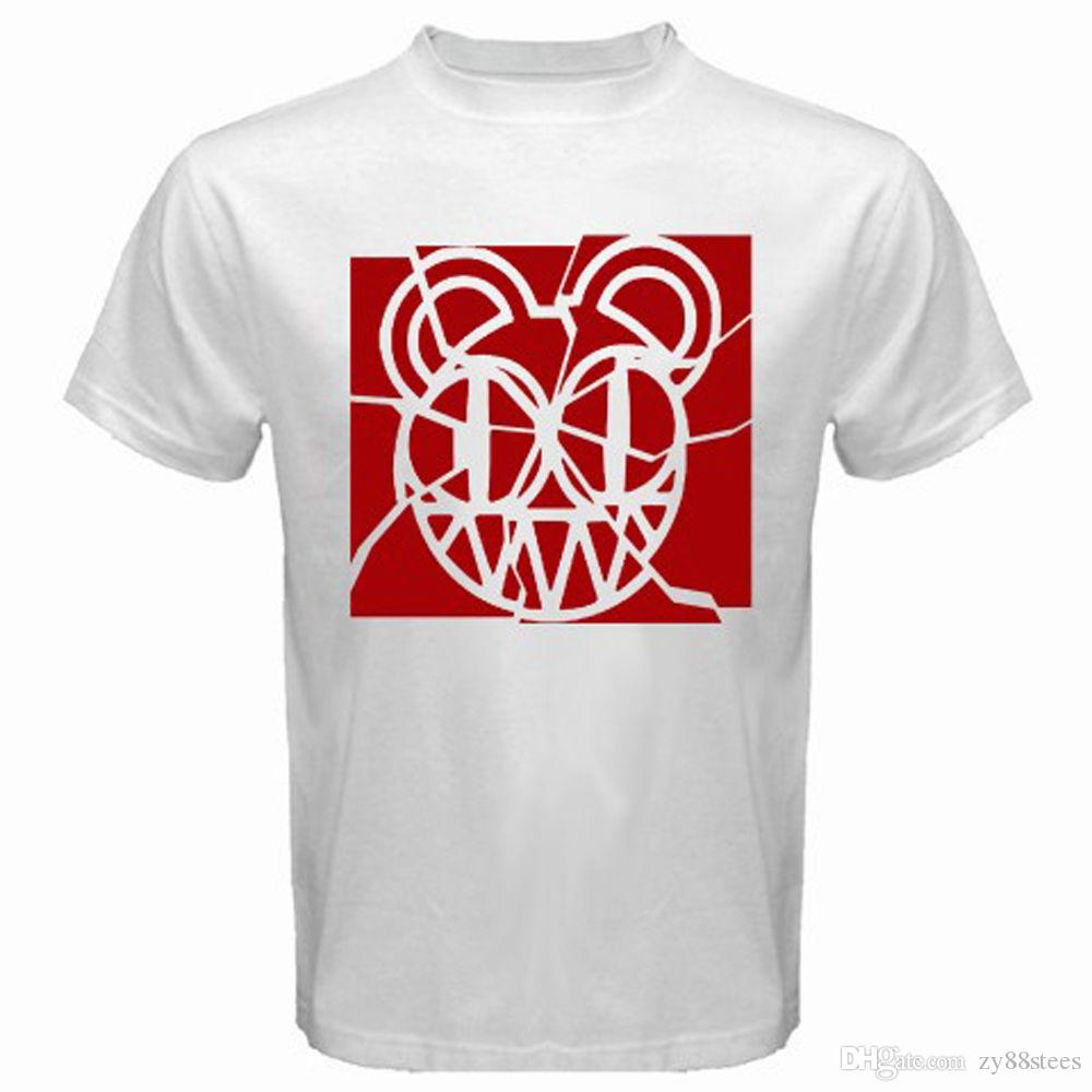 1ef4851d6 New Radiohead RED Rock Band Red Logo Men's White T-Shirt Size S-3XL T-Shirt  Men Male Classic White Short Sleeve Custom Big Size Team