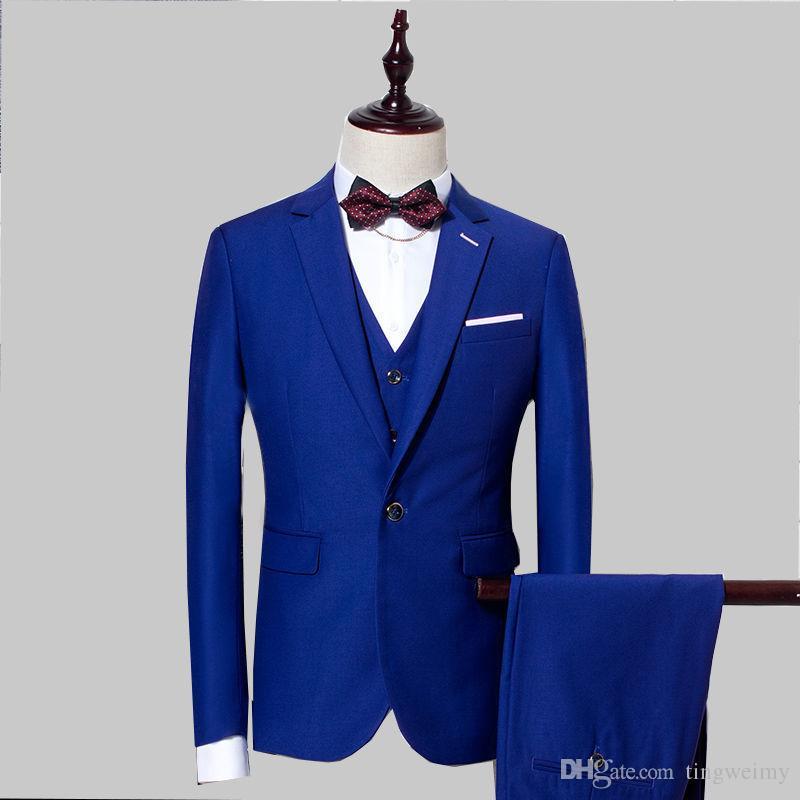 63c43d5c08720 Acquista Abito Uomo Royal Blue Su Misura