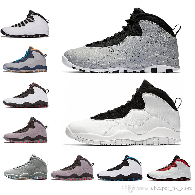 934469ea0503 2019 New 10 10s Cement Westbrook X I M Back Mens Basketball Bobcats Chicago  Cool Grey Powder Blue Steel Grey Black White Sports Sneakers 41 47 From ...