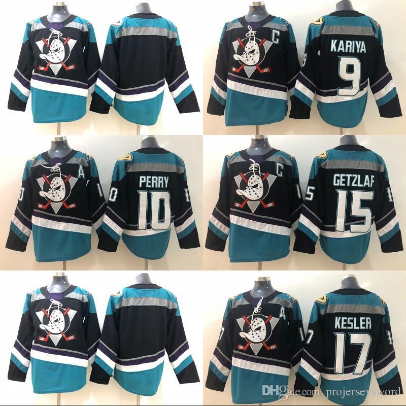 cheap for discount d4dc0 c6f43 #15 Ryan Getzlaf Black/Teal Authentic Player Jersey Anaheim Ducks 9 Paul  Kariya 10 Corey Perry 17 Ryan Kesler Blank Hockey Jerseys S-XXXL