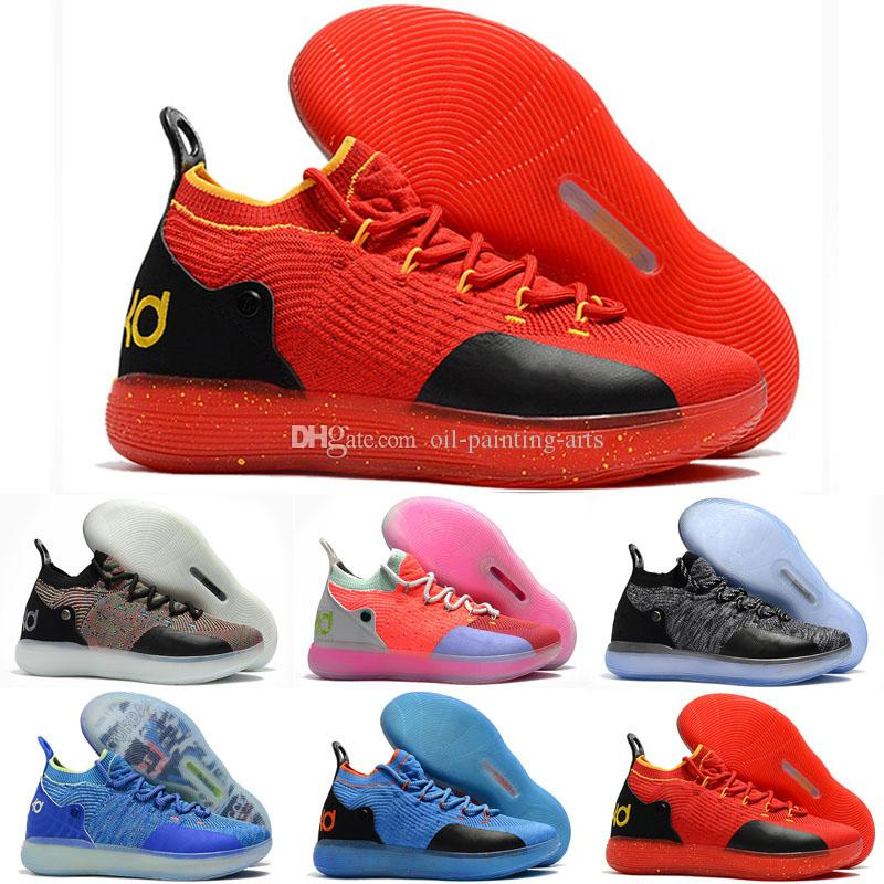 competitive price a3512 ef239 2018 New Kid Women Youth KD XI 11 EP Oreo Many Colors Casual Shoes Good  Quality Kevin Durant 11s Casual Shoes Size US 5 12 Discount Shoes Mens  Loafers From ...