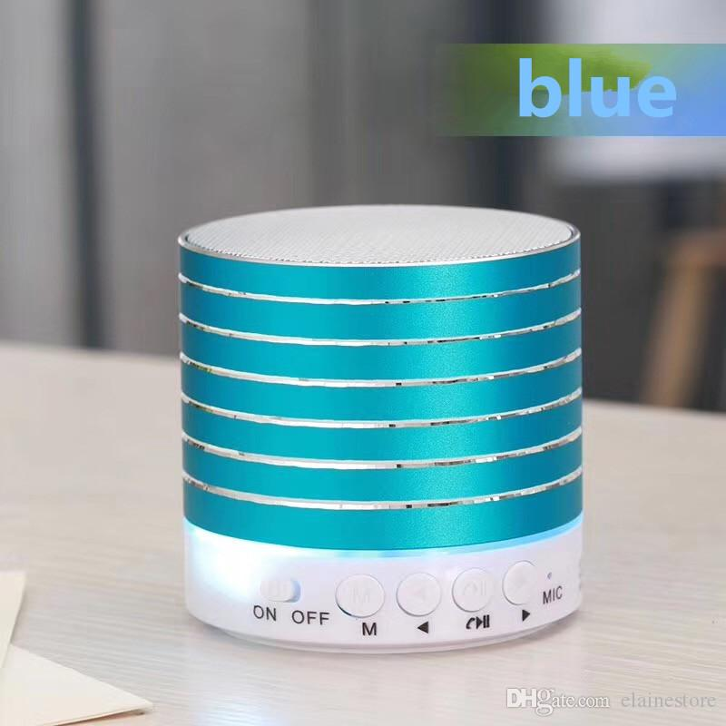 drahtlose Bluetooth LED Lampe Lautsprecher Metall Mini tragbare Sub Woof Sound mit Mic TF Karte FM Radio AUX MP3 Musik spielen Lautsprecher