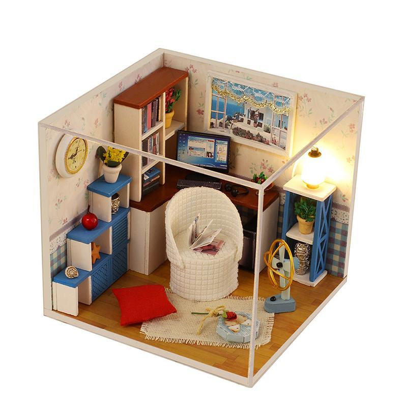 Dollhouse Miniature Diy Doll House 3d Furniture Building Dollhouse