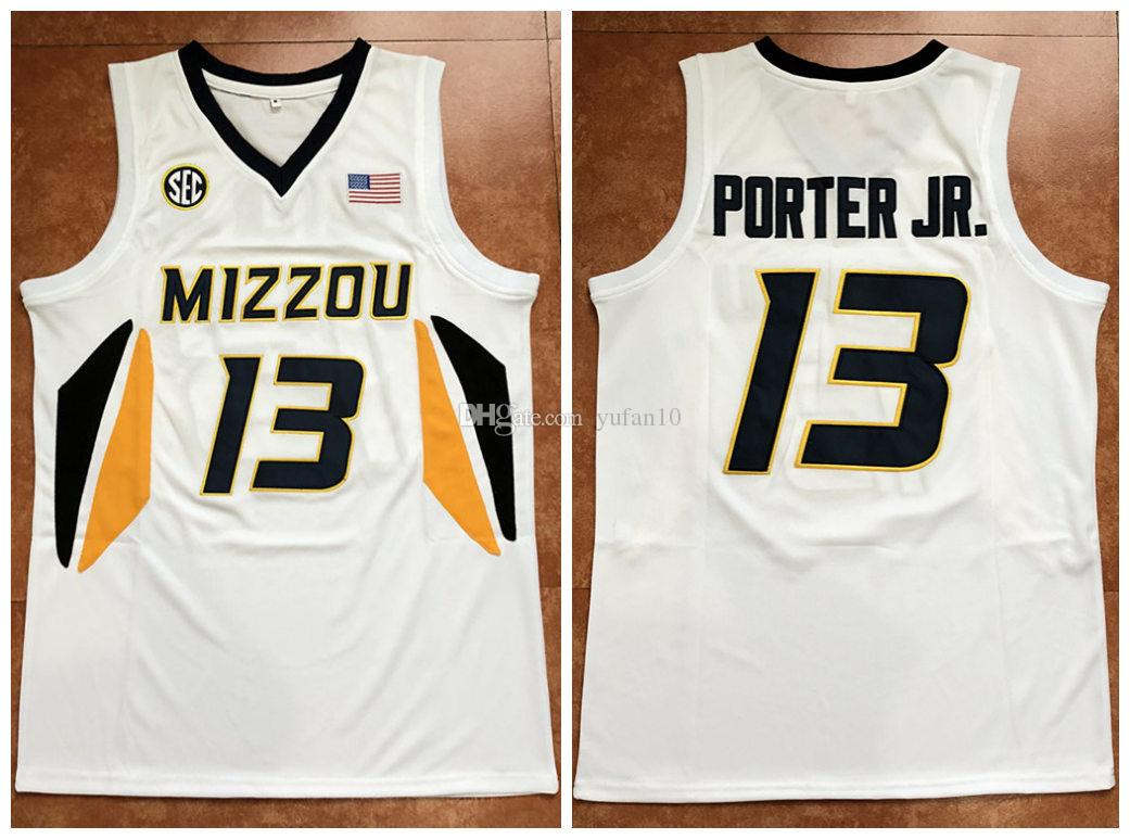 hot sale online 88108 e8853 #13 Michael Porter Jr Missouri Tigers Mizzou College White Retro Basketball  Jersey Mens Stitched Custom any Number and name Jerseys