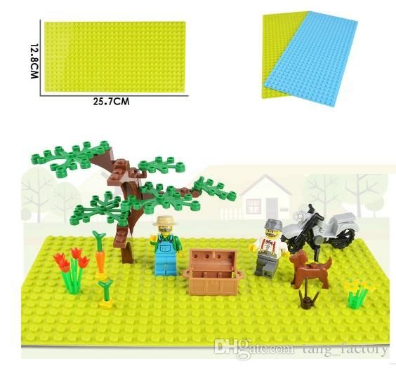 New Version Small Blocks Building DIY Baseplate 16*32 Dots Base plate Toys Children Educational Plastic ABS Toy Accessories