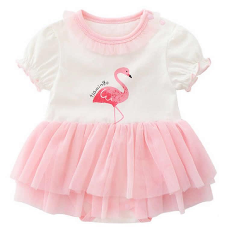 4e63aa0d353 Acheter Bébé Fille 1 An D anniversaire Robe Flamant Rose Bow Noeud Boutique  Belle Infantile Princesse Robe Mignon Dentelle Fleur Bébé Robes De  21.52  Du ...