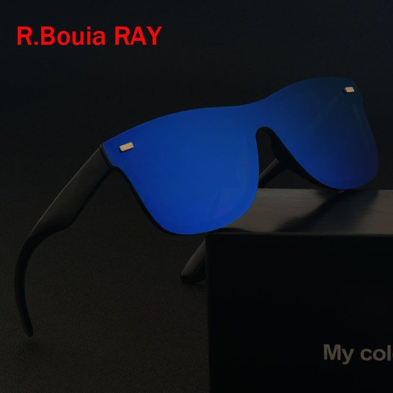 9f05a05ed1e Brand Vintage Sunglasses Men Rimless Square Frame Travel Flat Panel ...
