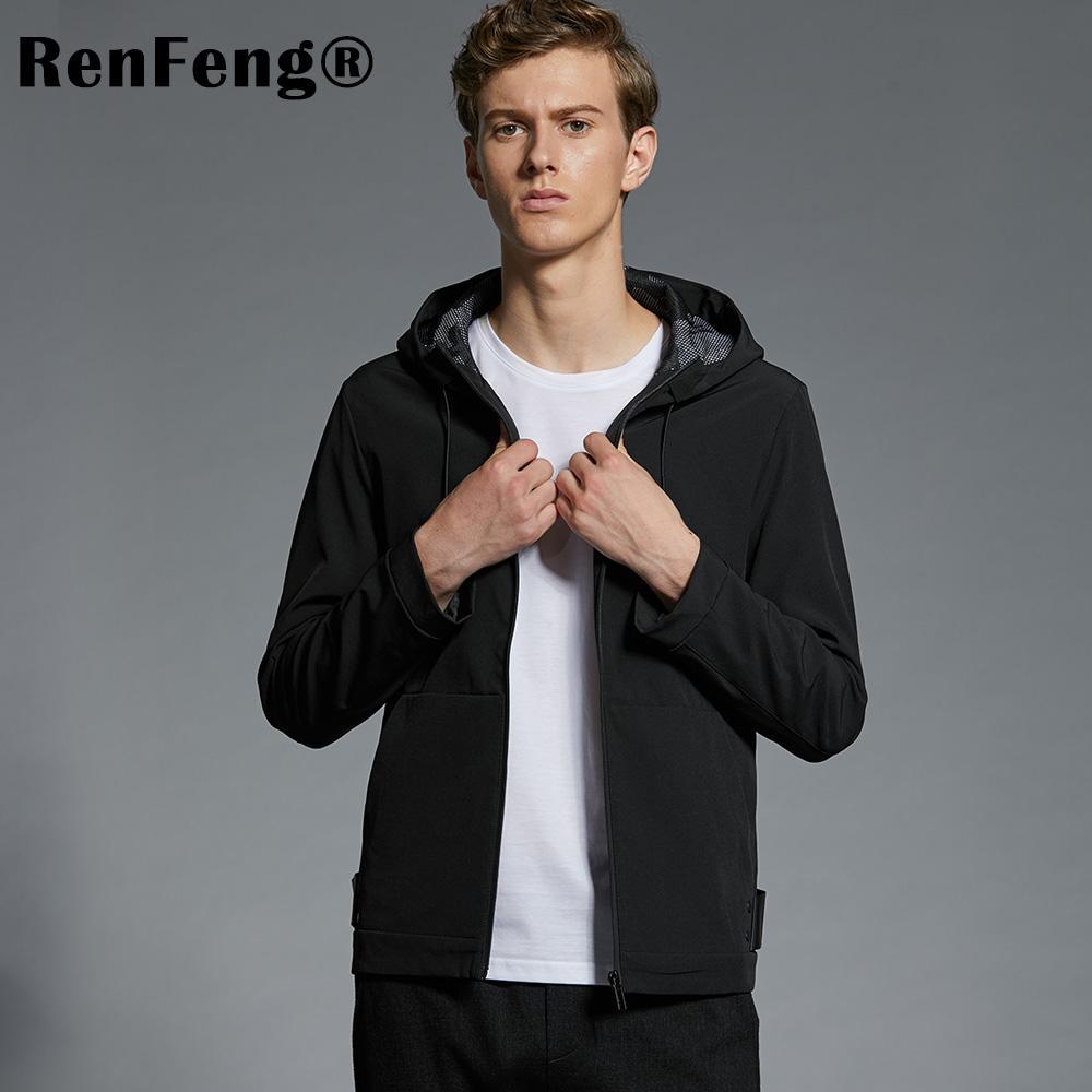3f6b1d7173d2c Satın Al Marka Bahar Sonbahar Erkekler Ceketler Moda Rahat Erkek Mont Ince  Uyar Artı Boyutu M 4XL Erkek Giyim Yumuşak Yıpratır Rüzgarlık, $80.97 |  DHgate.