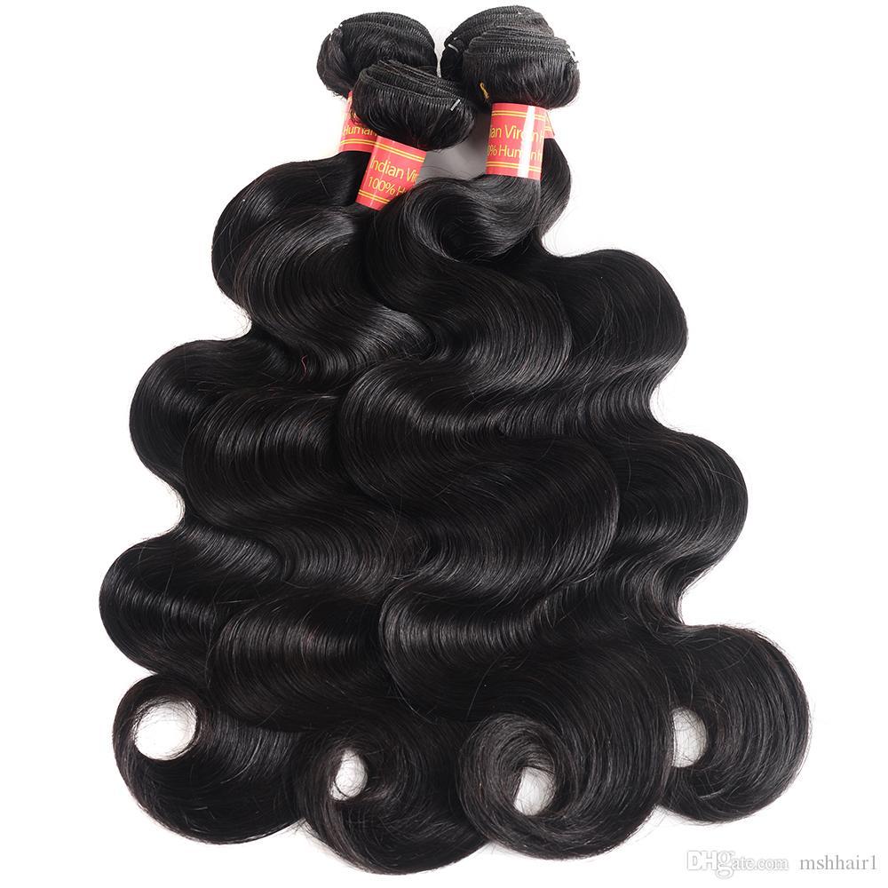 8A Bundles brasiliani non trattati dei capelli dell'onda del corpo 3/lotto colore naturale brasiliano del tessuto dei capelli umani dell'onda del corpo del Virgin
