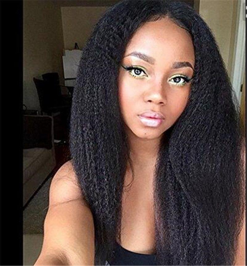 Italian Yaki Glueless Full Lace Human Hair Wigs For Black Women Brazilian Hair Italian Yaki Lace Front Human Hair Wigs