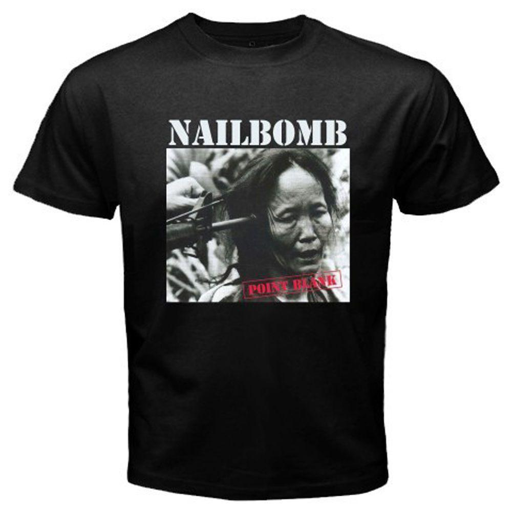 a4ef2284 NAILBOMB Point Blank Logo Rock Band T Shirt Mens 2018 Fashion Brand T Shirt  O Neck 100%cotton T Shirt Tops Tee Custom Environmental Printed Buy T Shirts  ...