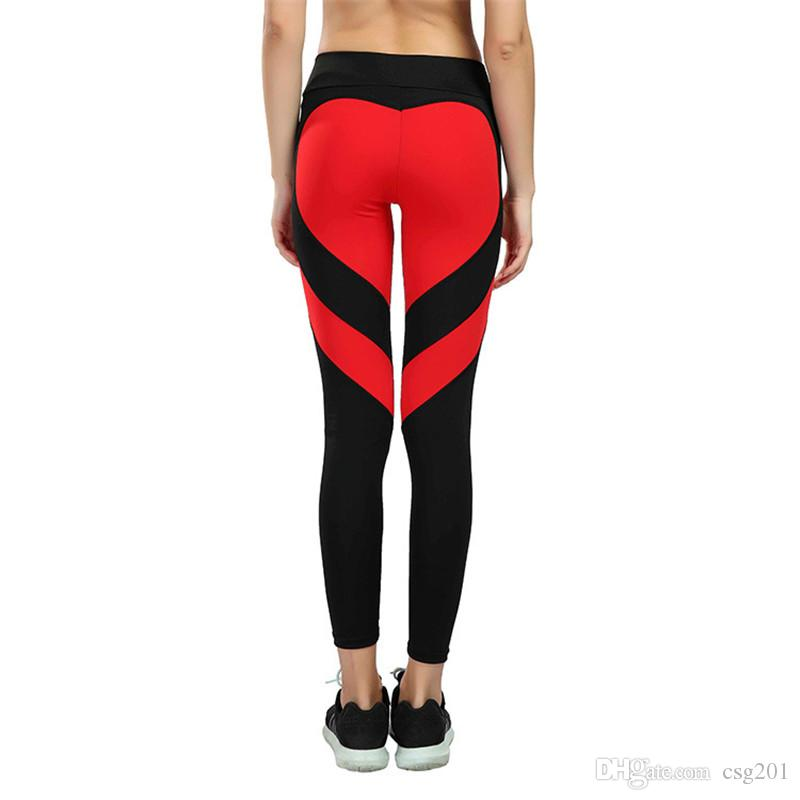 a046fc21b0 Black White Red Heart Women's Leggings Yoga Pants Crossfit Tights Fitness  Running Jeggings Gym Trousers Legging Sport Sportwear S-3XL