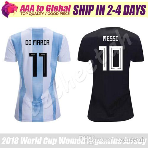 f928f8364 2019 Women Argentina Jersey 2018 Best Quality Lady Soccer Shirts Messi Di  Maria Dybala Argentina Girl Football Jerseys From Bzcheetah