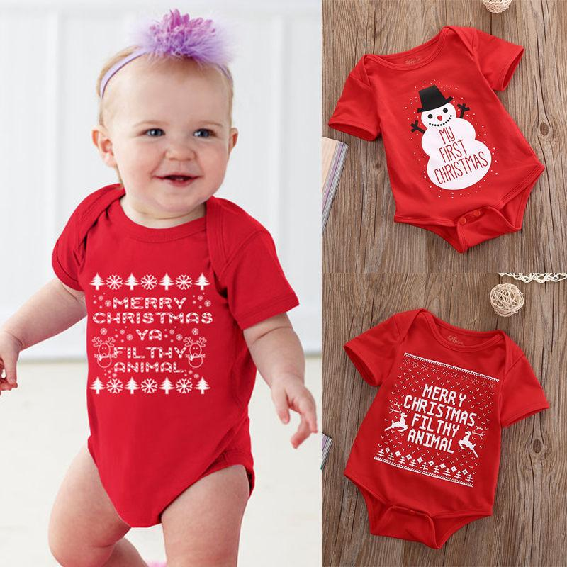 e77b4cd7f 2019 Xmas Rompers Baby Girl Boys Snowman My First Christmas Rompers Jumpsuit  Toddler Newborn Infant One Pieces Outfits Clothes 0 18M Y18102907 From  Gou07, ...