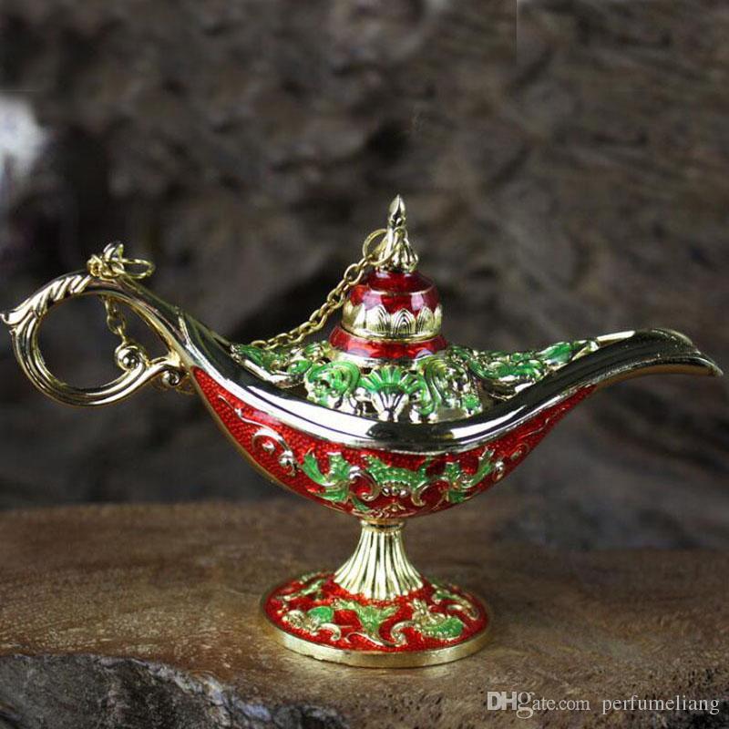 Stile antico Fiaba Aladino Lampade magiche Teiera Genio Lampada Vintage Retro Giocattoli bambini Regali Decorazione della casa ZA6516