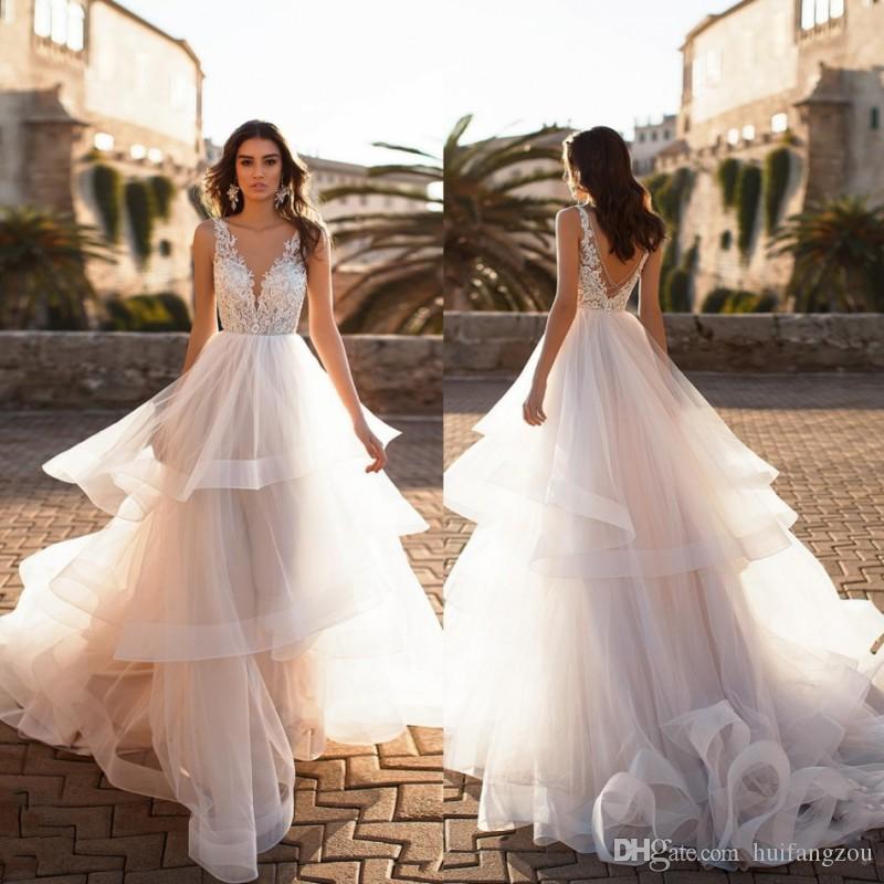 Discount Brand New Custom Made Wedding Dress Naviblue 2019 Dolly V