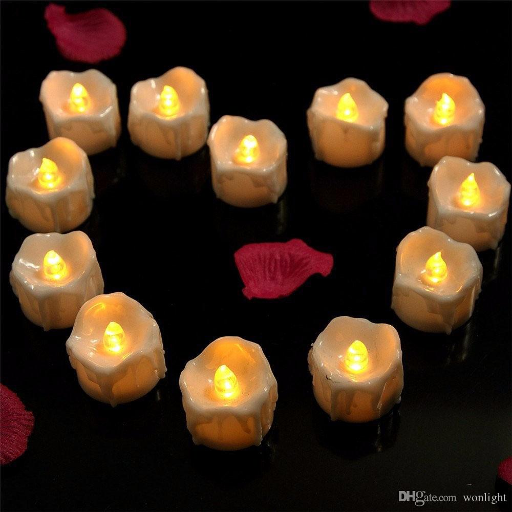2018 12 pack flicker battery candles plastic electric candles