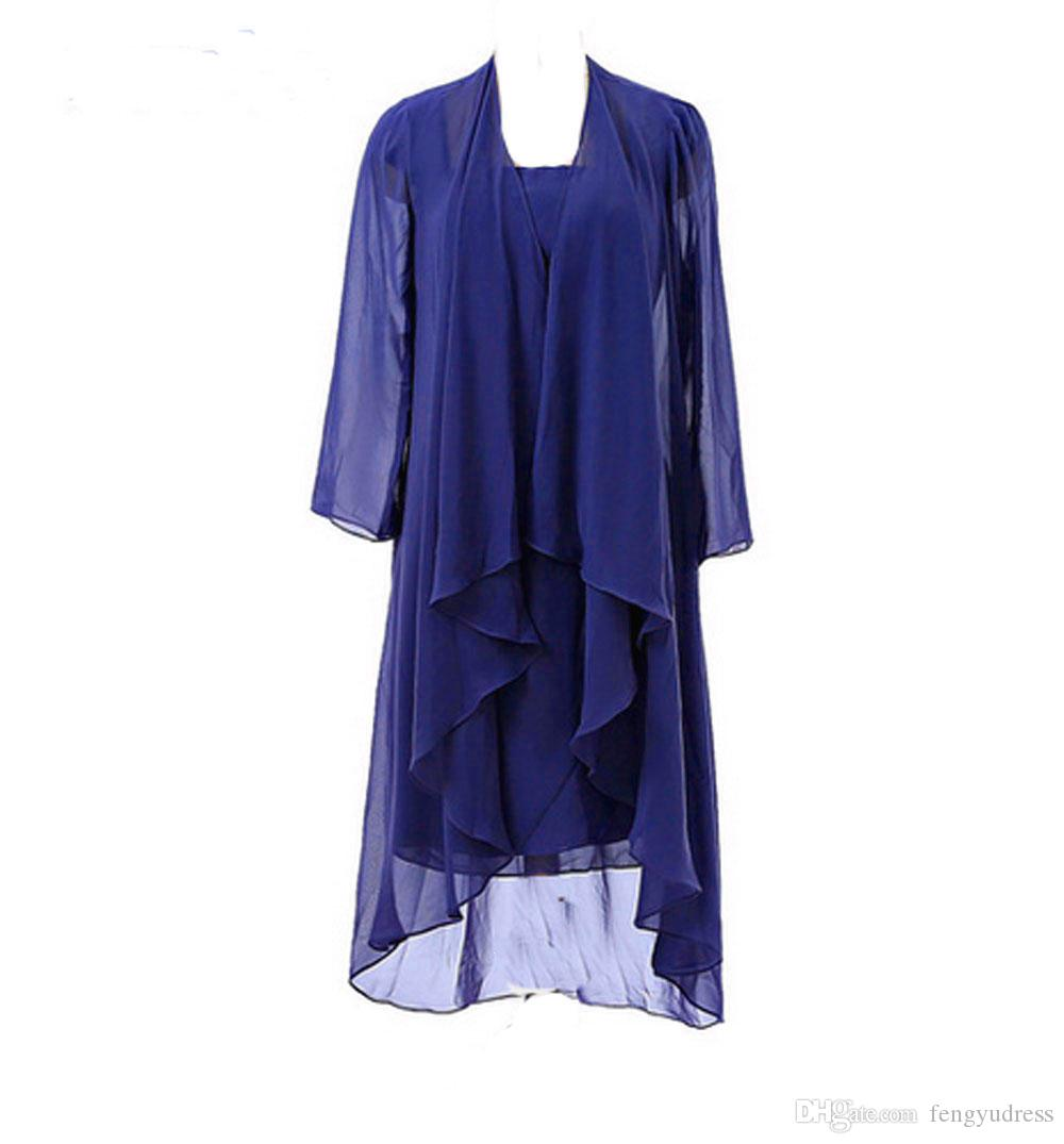 2018 New Arrivals Chiffon Mother's Dresses Two-piece Mother of the Bride Dresses Formal Dresses with Jacket