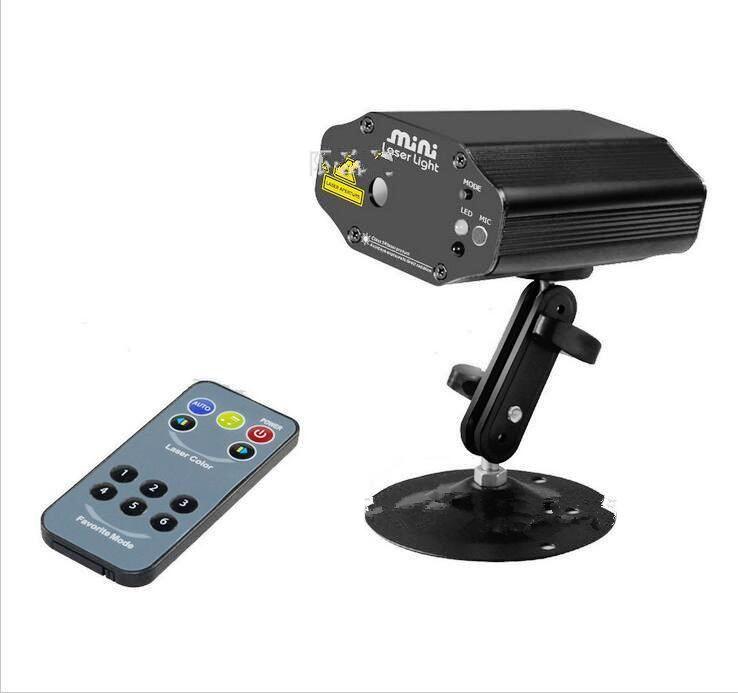 Compre Nuevo Red Purple Laser Control Remoto 8 Patrones Proyector ...