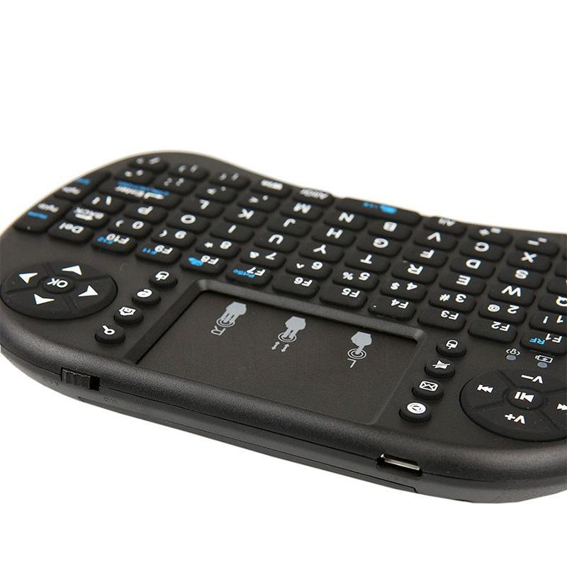 20x Wireless Keyboard Mini i8 Air Mouse Multi-Media Player Remote Control Touchpad for Android Smart TV Box MXIII M8 MXQ MX3 Mini PC