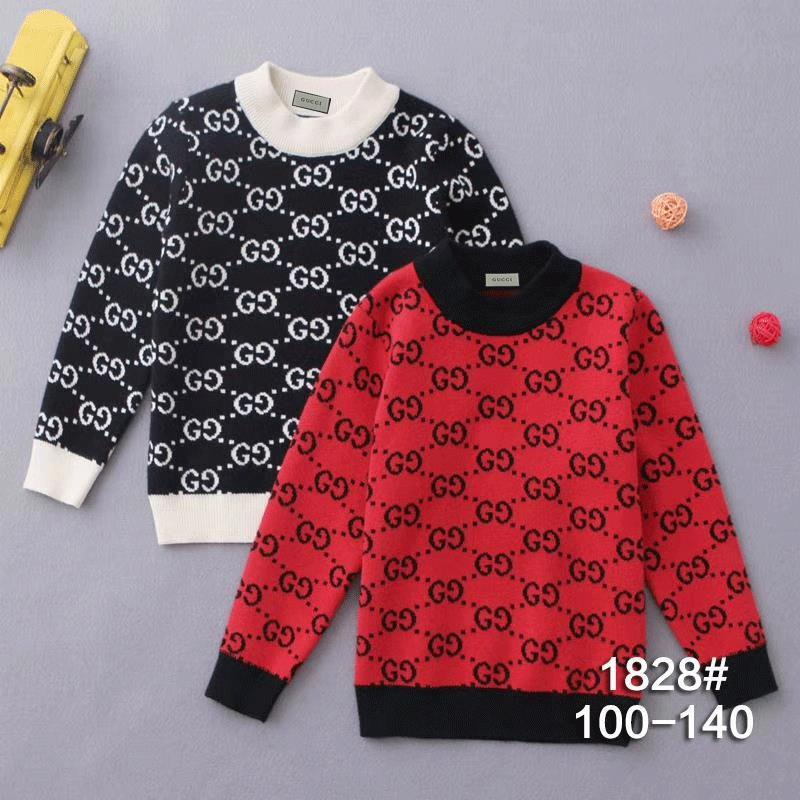 Girl Sweater Winter Clothes Small And Medium Children Hit Half High