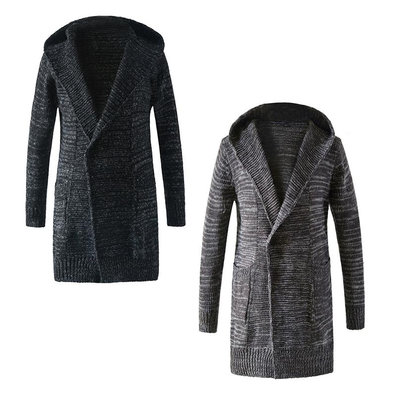 d76cf9a930 Men s Hooded Cardigan Long Sweater Men s Sweater Knit Cardigan Jacket  Cardigans Cheap Cardigans Men s Hooded Cardigan Long Sweater Men s Online  with ...