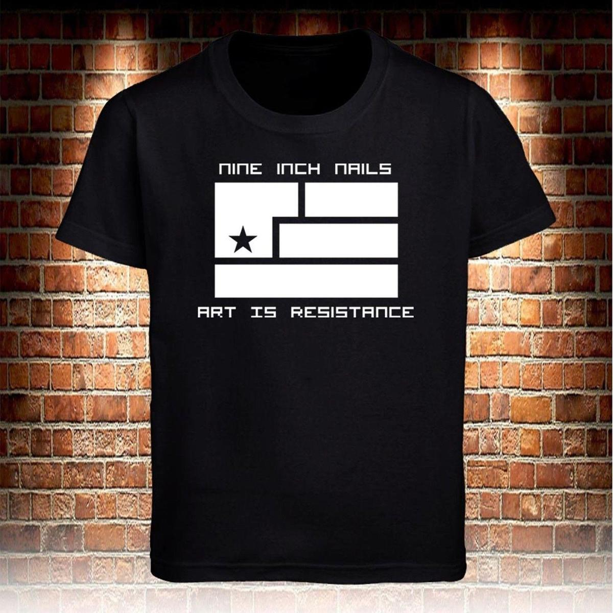 2300c0fded1cc Black T-shirts Nine Inch Nails NIN Art is Resistance Men s Size S to 3XL