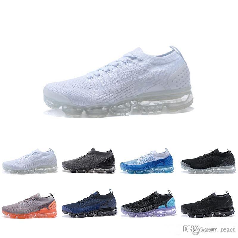 5dd3b87ac2 ... New 2018 VaporMax 2.0 Homens E Mulheres Tênis De Corrida Sapatilhas  Sapatos De Esportes Preto Branco Caminhadas Sapatos De Caminhada Nike Air  Max AIRMAX ...