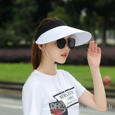 28986db25e0 Top Spring Summer Caps Men s Joggers Leisure Sun Hat Outdoor Tennis Sports  Daytime Sun Visor Adjustable Empty Top Hat Baseball Cap Sun Visor Online  with ...