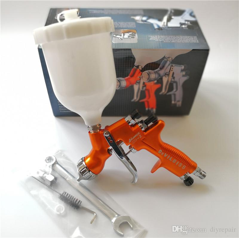 Gravity Feed HD-2 HVLP Devilbiss Spray Gun Gravity Feed para todo auto Paint, Topcoat y Touch-Up con 600cc Plastic Paint Cup