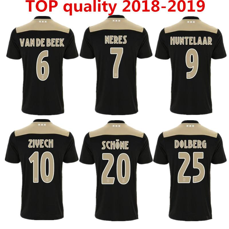 55294c7ce9c 2019 Ajax SOCCER JERSEYS 18/19 AJAX Away Soccer Jersey 2018 2019 Away Blue  Klaassen NOURI Black/Raw Gold Football Shirt From Minghao666, $16.39 |  DHgate.Com