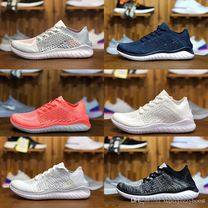 sneakers for cheap 1fbfb 64f2a Acheter TOP Qualité Nike Flyknit Free Rn Libre RN 5 5S Hommes Femmes  Chaussures De Course Respirant Léger Tricot Mode Baskets Running Formateurs  Taille 36 ...