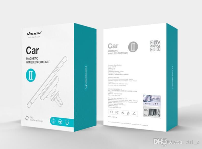 Nillkin автомобиль Ци беспроводное зарядное устройство II магнитный вентиляционное отверстие Маунт pad Для Samsung S9 S8 Plus Примечание 8 для iPhone X 8