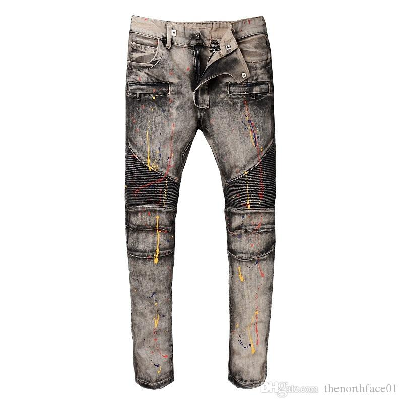 Balmain New Fashion Men's Simple Summer Lightweight Jeans Men's Large Size Fashion Casual Solid Classic Straight Denim Designer Jeans