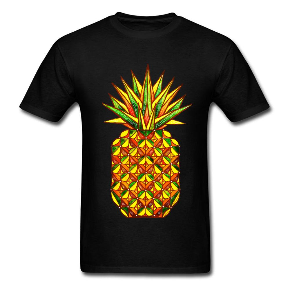 0d433008683b Geometric Pineapple T-shirt Printed Men T Shirt Hipster Tees ...