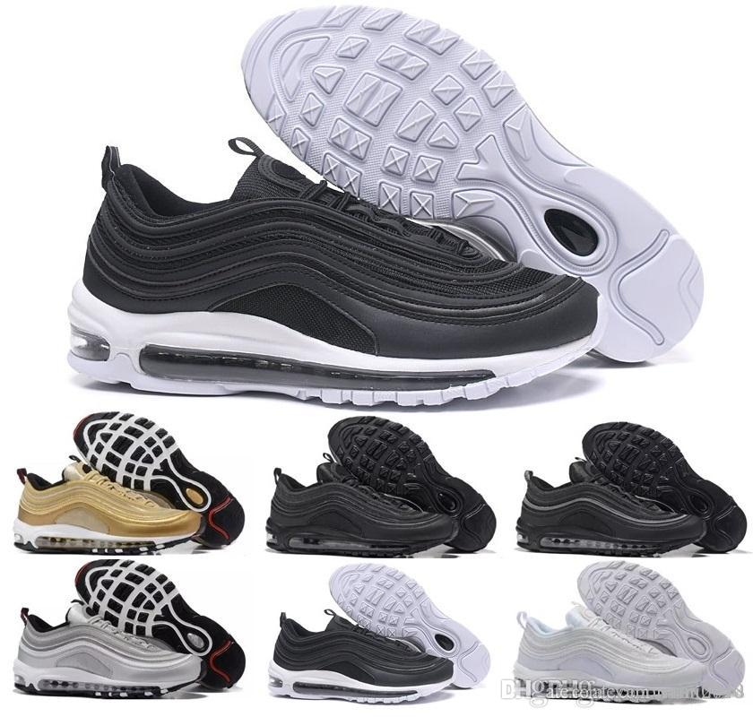 new product 65fe3 993d4 Compre Nike Air Max 97 Airmax 97 OG Zapatos Casuales Undftd Black Speed  Rojo DS Calidad Superior 97 Hombres 97s Zapatos Casuales Para Mujeres  Undftds Air ...