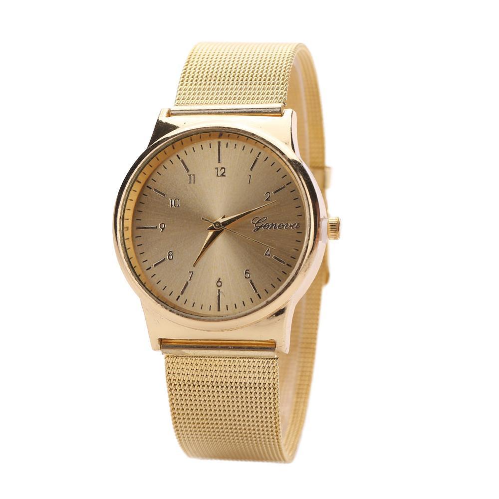 07f7e055c45f Compre Ginebra Reloj Para Mujer Relojes De Oro Rosa Reloj Mujer Reloj  Pulsera Simple Malla De Acero Inoxidable Relogio A  2.0 Del Super088