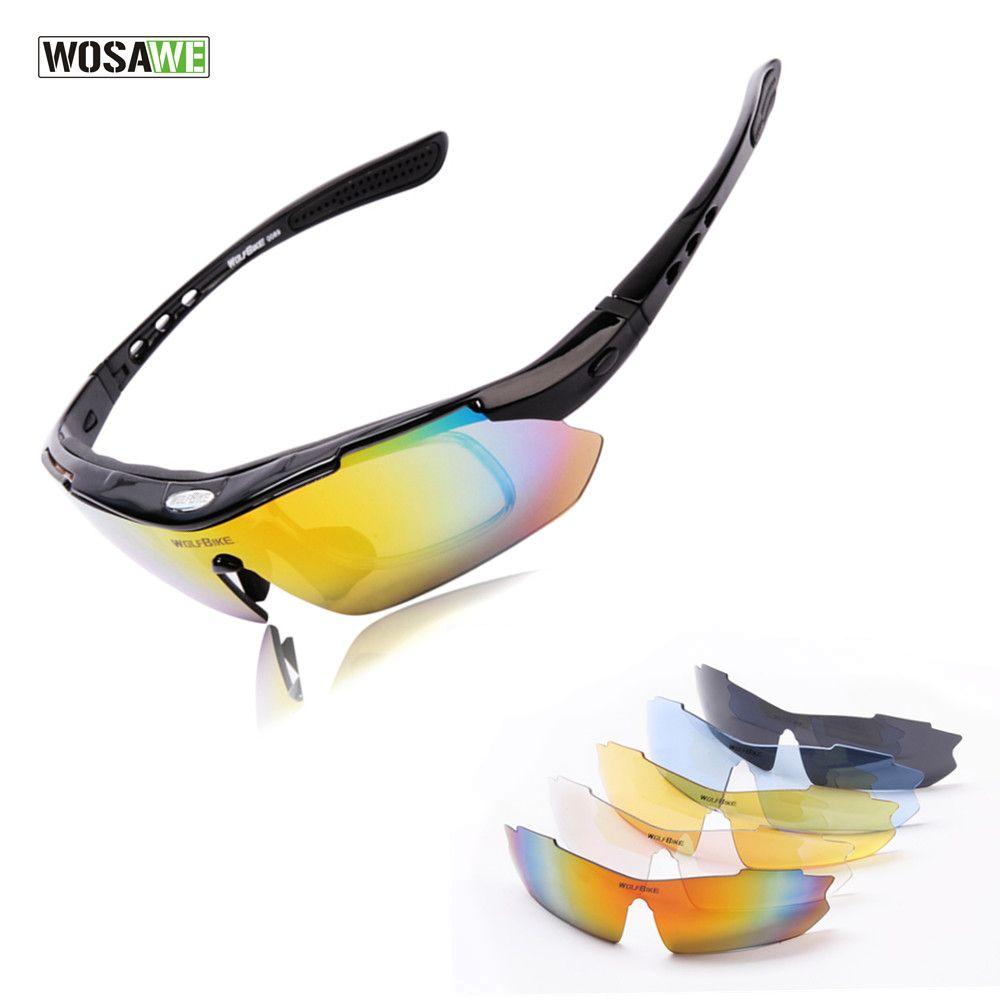 feca7c364 Compre Wosawe Profissional Ciclismo Preto Óculos De Corrida Dos Homens  Óculos De Sol De Segurança Esportes Tr90 Óculos De Bicicleta Da Bicicleta  Óculos De ...