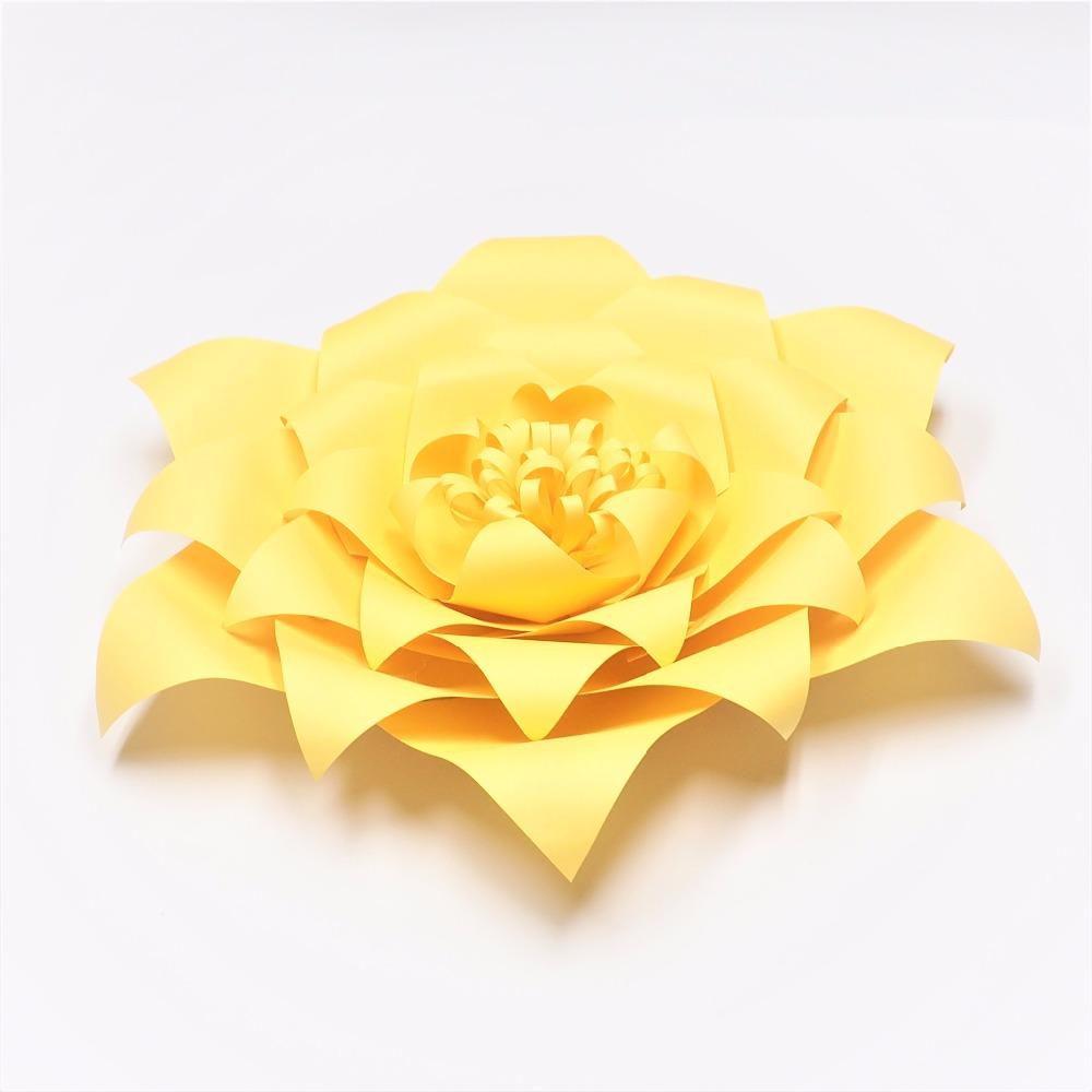 2018 Yellow Giant Paper Flowers Nursery Wall Decor Wedding Party ...