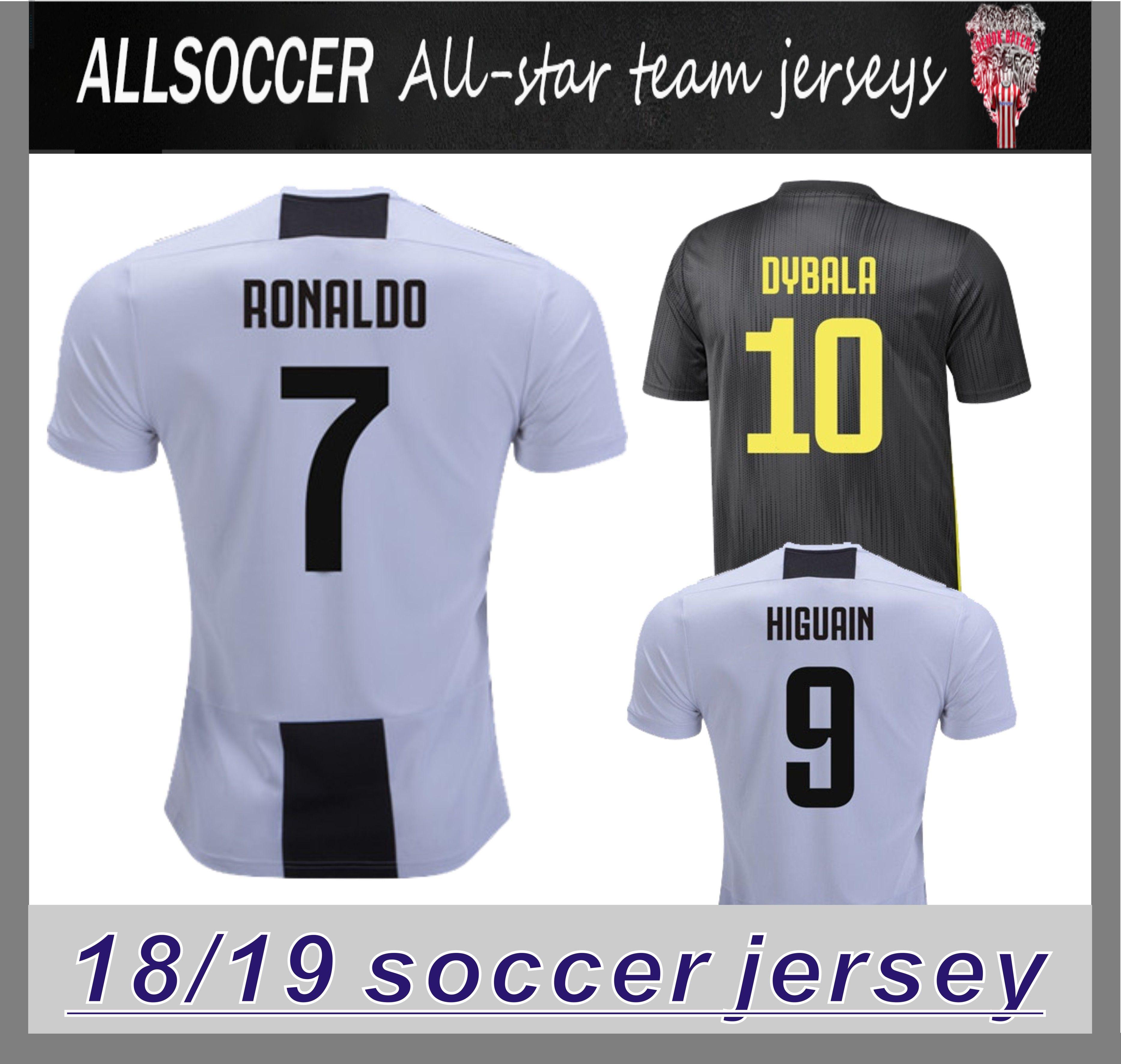 d37f97b33af 2019 7 RONALDO 18 19 Home And Away Soccer Jerseys Dybala HIGUAIN Tshirts  CHIELLINI Costa KHEDIRA Cuadrado PJANIC Manzukic 2019 Top Quality Jersey  From ...