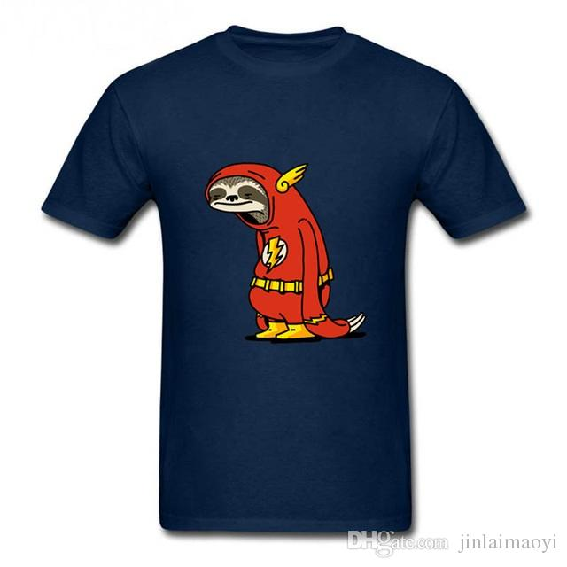 817bac3b Funny Sloth The Flash T Shirts Men The Neutral T Shirt Male Super Hero Red Sloth  Tshirt Harajuku Tops 100% Cotton Tees Camisetas Trendy Mens T Shirts T ...