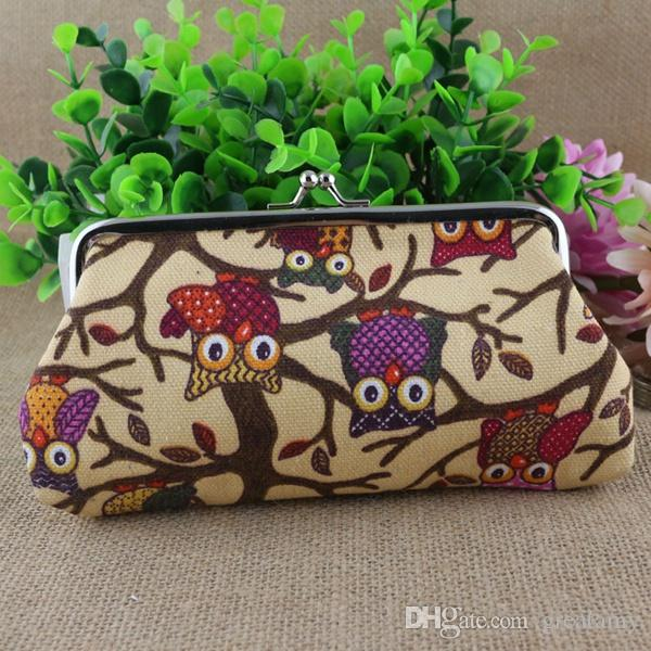 zero wallet coin bag owl canvas change purse clutch cosmetic bag cartoon handbag kids women bag top quality