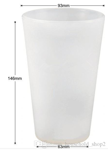 590ml Silicone Wine glasses creative Unbreakable Foldable cocktail cups portable outdoor picnic mugs bar party wine glasses
