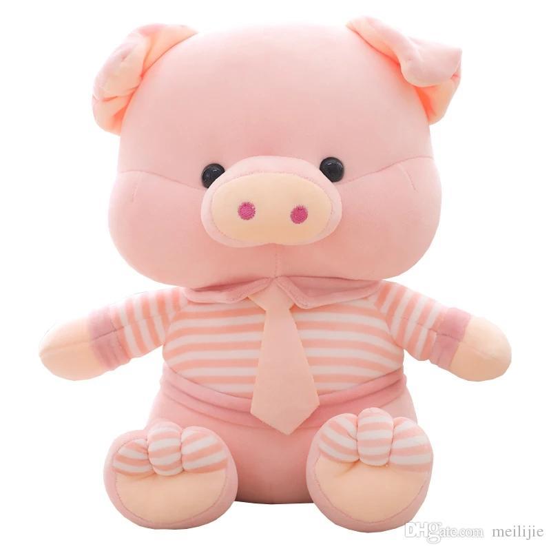 2019 Cute Pink Small Pig Short Plush Toys Pig Sleeping Pillow Soft