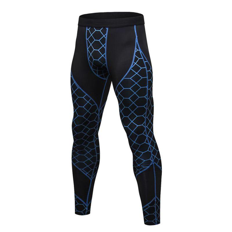 1bd625b3f90 Men Gym Compression Pants Long Trousers Base Layer Skinny Slim Stretch  Running Tights Sport Workout Plus Size S-2XL Running Pants Cheap Running Pants  Men ...