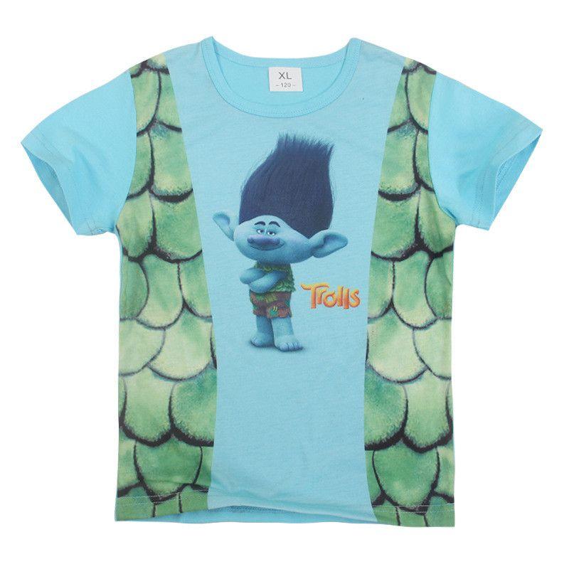 Trolls Boys Pajamas Sets Boys Summer Pyjamas Kids Summer Cotton Sleepwear for 4-10 Years Children B11