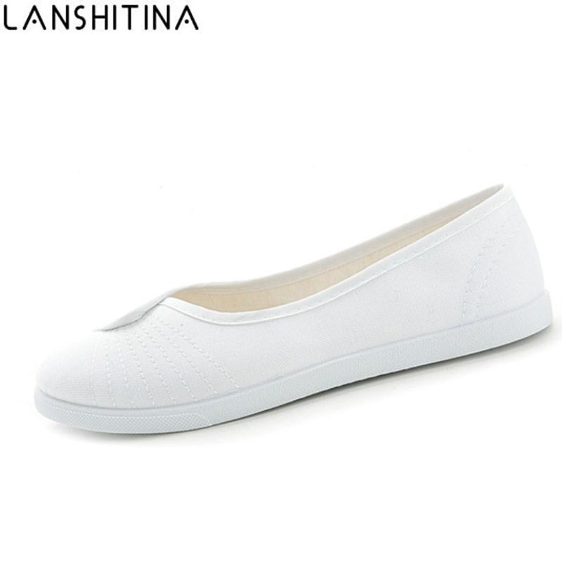 Casual 2017 Canvas 2019 Nurse Shoes Fashion White New Women 76gYbyfv