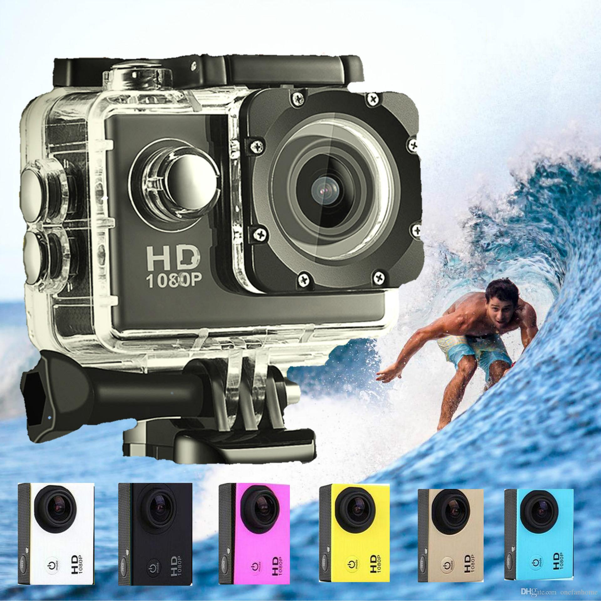 Waterproo A7 Sport Cam HD 1080P Helmet Sports DV Video Car Cam DV Action Waterproof Underwater 30M Camera Camcorder for Diving Surfing